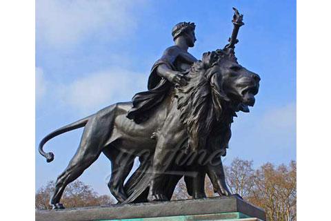 2017 new design garden decoration bronze lion statues