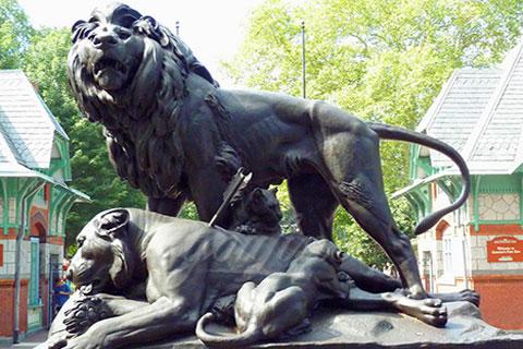 Bronze casting foundry metal craft bronze lion statues