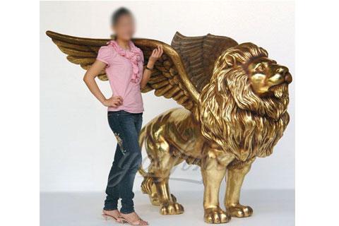 Garden lying life size bronze lion sculptures for park