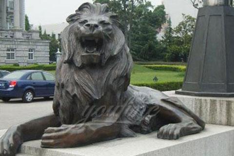New design antique bronze lion garden statues for sale