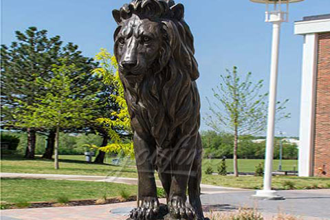 Outdoor decoration customized large animal bronze lion statues