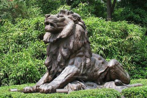 Popular animal art of antique modern bronze lion sculptures