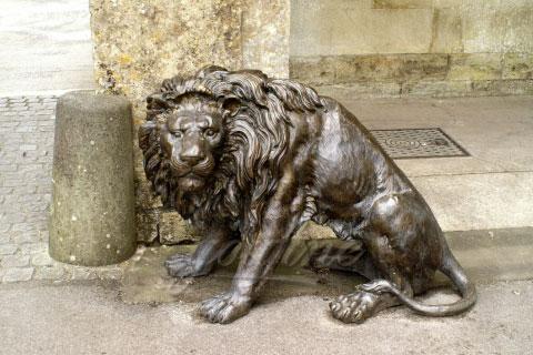 Western design antique bronze lion sculptures with high quality